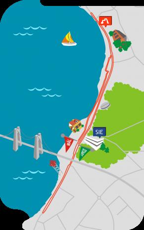 Klik for at se kortet over ruten i fuld størrelse.